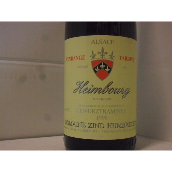 Domaine  Zind Humbrecht Heimbourg Vend. Tard. 1998
