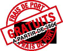 Frais de port gratuit à partir de 380€ d'achat